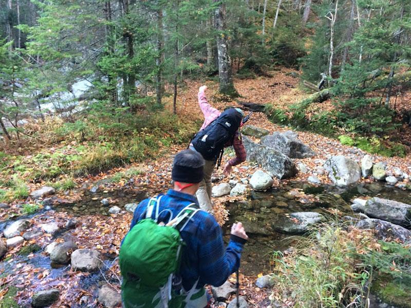 Crossing the Brook | Basin & Saddleback | Adirondacks