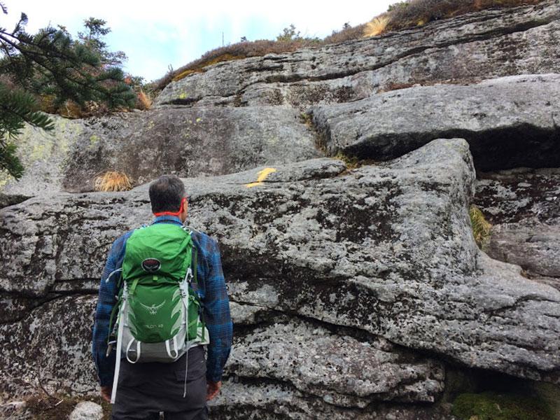 Last Rock Scramble up Basin | Basin & Saddleback | Adirondacks